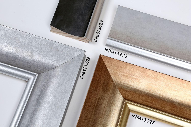 IN6413: 623 Cementowy popiel/srebrna krawędź / 626 Srebrny popiel/srebrna krawędź / 629 Popiel antracytowy/srebrna krawędź / 727 Ciepłe złoto/złota krawędź