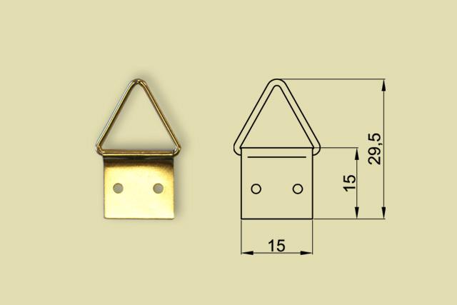 Zawieszki trójkątne nr 3 kod 0200-0003