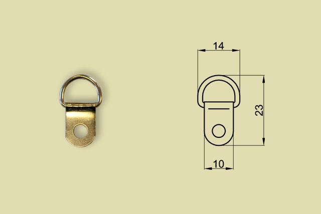 Zawieszki niklowane zaokrąglone kod 0216-0001-FN/100