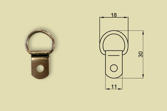Zawieszki niklowane zaokrąglone kod 0216-0002-FN/100