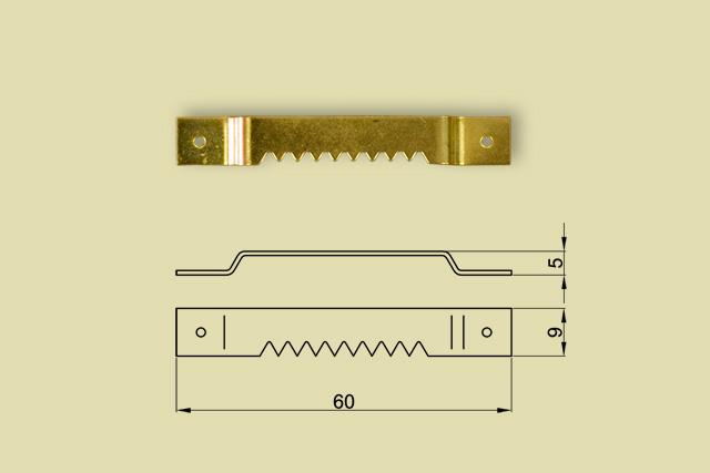 Zawieszki ząbkowane mostkowe na gwoździki kod 0218-0000
