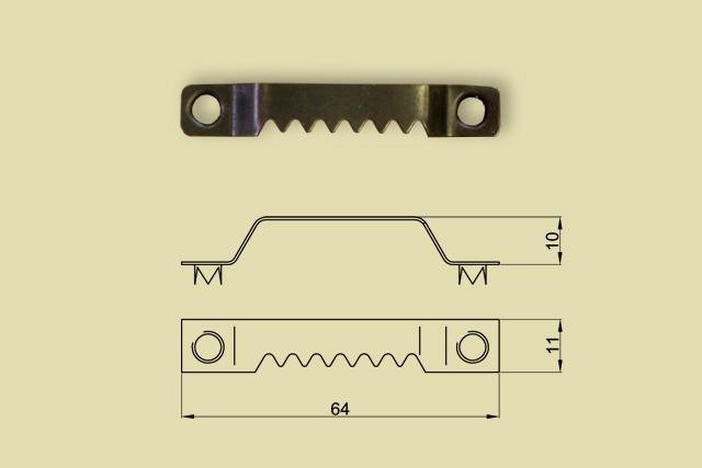 Zawieszki ząbkowane mostkowe na śruby czarne 0218-FC59